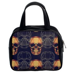 Skull Pattern Classic Handbags (2 Sides) by BangZart
