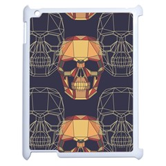 Skull Pattern Apple Ipad 2 Case (white) by BangZart