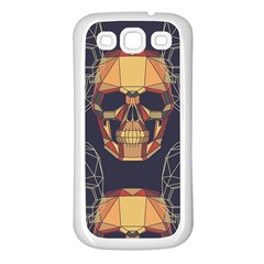 Skull Pattern Samsung Galaxy S3 Back Case (white) by BangZart