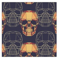 Skull Pattern Large Satin Scarf (square) by BangZart