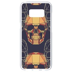 Skull Pattern Samsung Galaxy S8 White Seamless Case