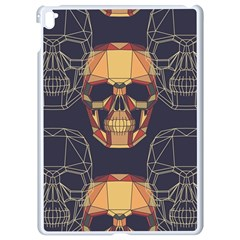 Skull Pattern Apple Ipad Pro 9 7   White Seamless Case by BangZart