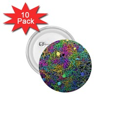 Starbursts Biploar Spring Colors Nature 1 75  Buttons (10 Pack) by BangZart