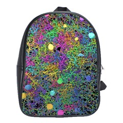Starbursts Biploar Spring Colors Nature School Bags(large)