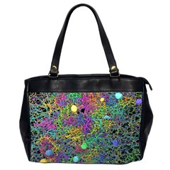 Starbursts Biploar Spring Colors Nature Office Handbags (2 Sides)  by BangZart