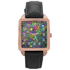 Starbursts Biploar Spring Colors Nature Rose Gold Leather Watch  by BangZart