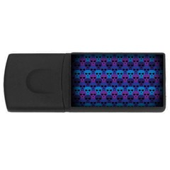 Skull Pattern Wallpaper Rectangular Usb Flash Drive by BangZart