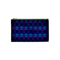 Skull Pattern Wallpaper Cosmetic Bag (small)  by BangZart