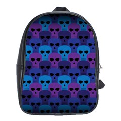 Skull Pattern Wallpaper School Bags(large)  by BangZart