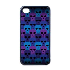 Skull Pattern Wallpaper Apple Iphone 4 Case (black) by BangZart