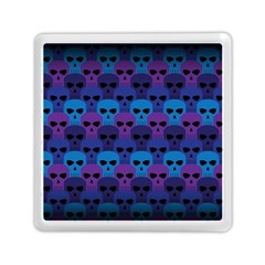 Skull Pattern Wallpaper Memory Card Reader (square)
