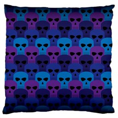 Skull Pattern Wallpaper Large Cushion Case (two Sides)