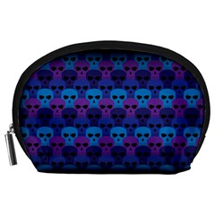 Skull Pattern Wallpaper Accessory Pouches (large)  by BangZart