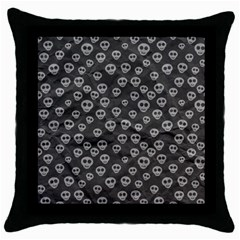 Skull Halloween Background Texture Throw Pillow Case (black) by BangZart