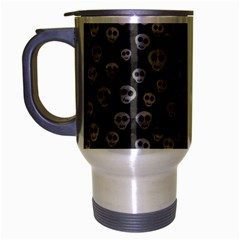 Skull Halloween Background Texture Travel Mug (silver Gray) by BangZart