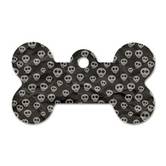 Skull Halloween Background Texture Dog Tag Bone (two Sides) by BangZart