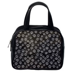 Skull Halloween Background Texture Classic Handbags (one Side)