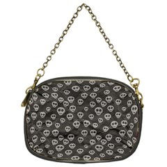 Skull Halloween Background Texture Chain Purses (one Side)