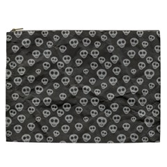 Skull Halloween Background Texture Cosmetic Bag (xxl)  by BangZart