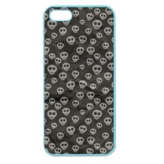 Skull Halloween Background Texture Apple Seamless Iphone 5 Case (color)