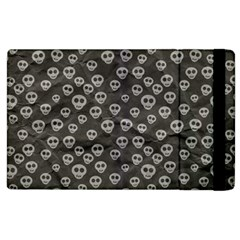 Skull Halloween Background Texture Apple Ipad 3/4 Flip Case by BangZart