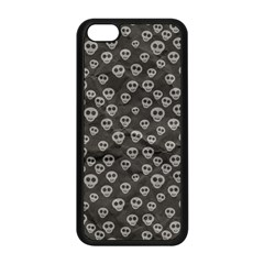 Skull Halloween Background Texture Apple Iphone 5c Seamless Case (black) by BangZart