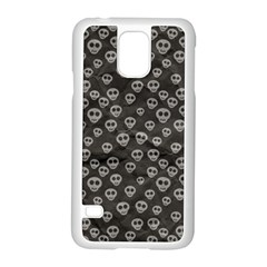 Skull Halloween Background Texture Samsung Galaxy S5 Case (white)