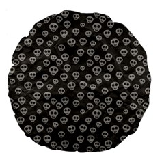 Skull Halloween Background Texture Large 18  Premium Flano Round Cushions by BangZart