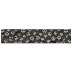 Skull Halloween Background Texture Flano Scarf (small) by BangZart