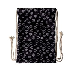 Skull Halloween Background Texture Drawstring Bag (small) by BangZart
