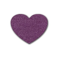 Purple Colorful Glitter Texture Pattern Heart Coaster (4 Pack)  by paulaoliveiradesign