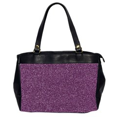Purple Colorful Glitter Texture Pattern Office Handbags (2 Sides)  by paulaoliveiradesign