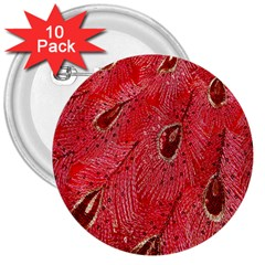 Red Peacock Floral Embroidered Long Qipao Traditional Chinese Cheongsam Mandarin 3  Buttons (10 Pack)  by BangZart