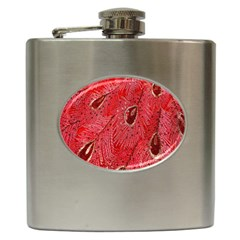 Red Peacock Floral Embroidered Long Qipao Traditional Chinese Cheongsam Mandarin Hip Flask (6 Oz) by BangZart