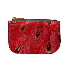 Red Peacock Floral Embroidered Long Qipao Traditional Chinese Cheongsam Mandarin Mini Coin Purses