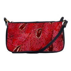 Red Peacock Floral Embroidered Long Qipao Traditional Chinese Cheongsam Mandarin Shoulder Clutch Bags by BangZart