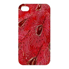 Red Peacock Floral Embroidered Long Qipao Traditional Chinese Cheongsam Mandarin Apple Iphone 4/4s Premium Hardshell Case by BangZart