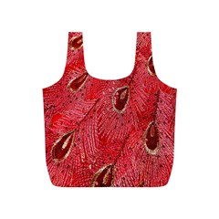 Red Peacock Floral Embroidered Long Qipao Traditional Chinese Cheongsam Mandarin Full Print Recycle Bags (s)  by BangZart