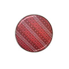 Red Batik Background Vector Hat Clip Ball Marker (4 Pack) by BangZart