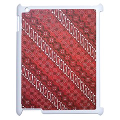 Red Batik Background Vector Apple Ipad 2 Case (white) by BangZart