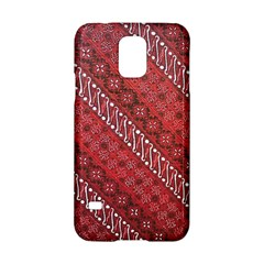 Red Batik Background Vector Samsung Galaxy S5 Hardshell Case  by BangZart