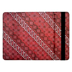 Red Batik Background Vector Samsung Galaxy Tab Pro 12 2  Flip Case