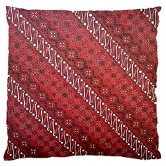 Red Batik Background Vector Standard Flano Cushion Case (two Sides) by BangZart