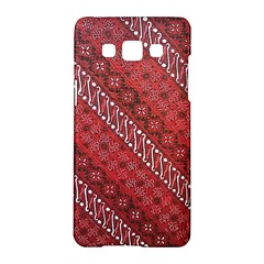 Red Batik Background Vector Samsung Galaxy A5 Hardshell Case  by BangZart