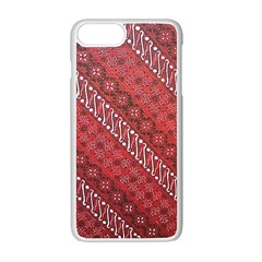 Red Batik Background Vector Apple Iphone 7 Plus White Seamless Case