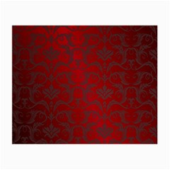 Red Dark Vintage Pattern Small Glasses Cloth (2 Side) by BangZart