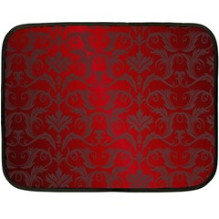 Red Dark Vintage Pattern Double Sided Fleece Blanket (mini)  by BangZart