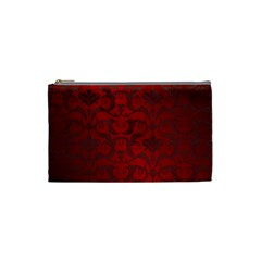 Red Dark Vintage Pattern Cosmetic Bag (small)  by BangZart