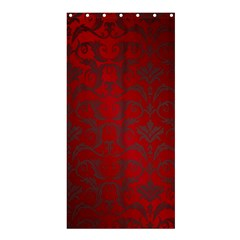 Red Dark Vintage Pattern Shower Curtain 36  X 72  (stall)  by BangZart