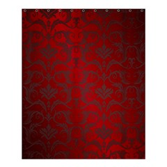 Red Dark Vintage Pattern Shower Curtain 60  X 72  (medium)  by BangZart